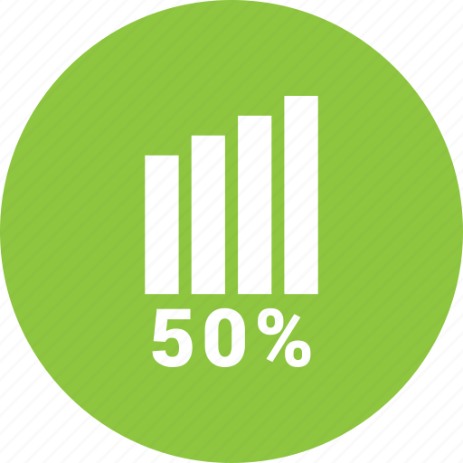 analytics, bars, fifty, graph, report, statistics icon