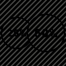 data, fifty, graphics, halt, info, twenty five icon