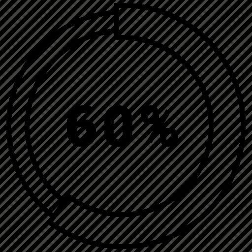 bar, finance, graph, pie, sixty icon