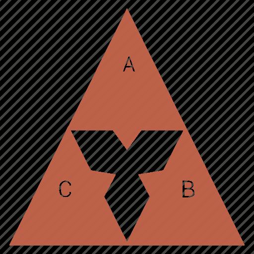 chart, pyramid, report, triangle icon