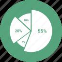 analytics, business, finance, growth, marketing, pie chart icon