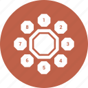 chart, graph, hashed, pie icon