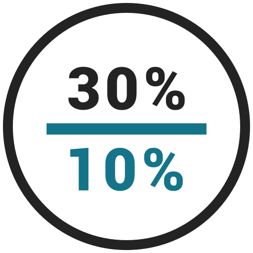 Percent, rate, ten, thirty icon - Free download