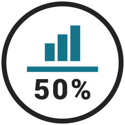 bar chart, business graph, business growth, fifty, graph icon