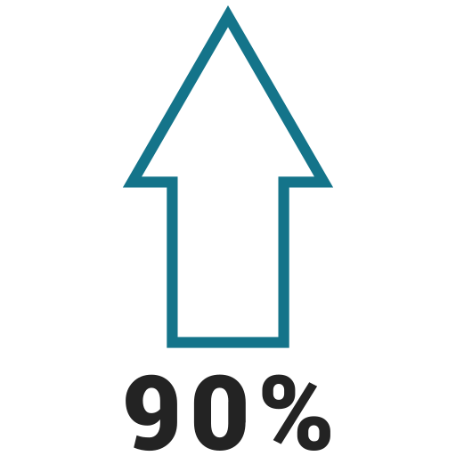 graphic, info, ninty, percent, up icon