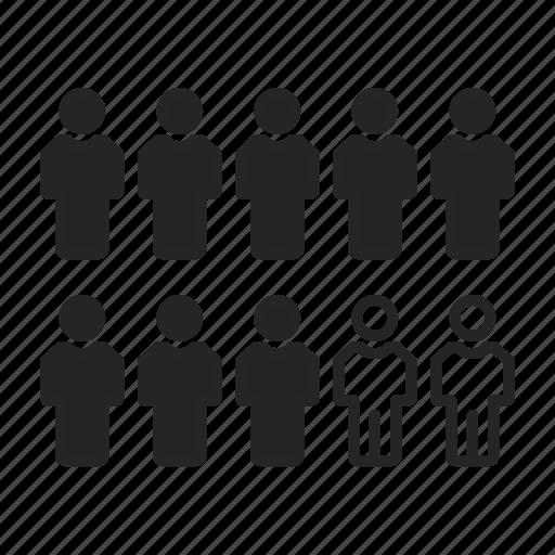 business, people, percent, profile, statistics icon