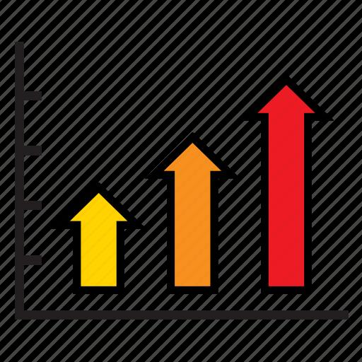 analytics, arrow, bars, business, graph, infographic, sales icon