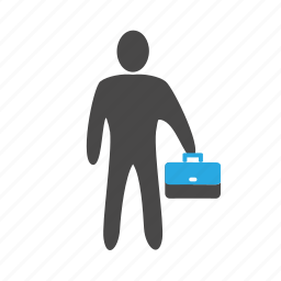 agent, banker, boss, business, client, colleague, corporate, manager, salesperson, suitcase icon
