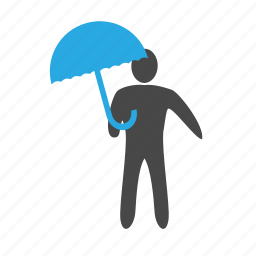 agent, insurance, private, protection, safe, safety, umbrella icon