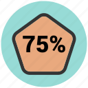 bars, data, infographic, information, percentage icon