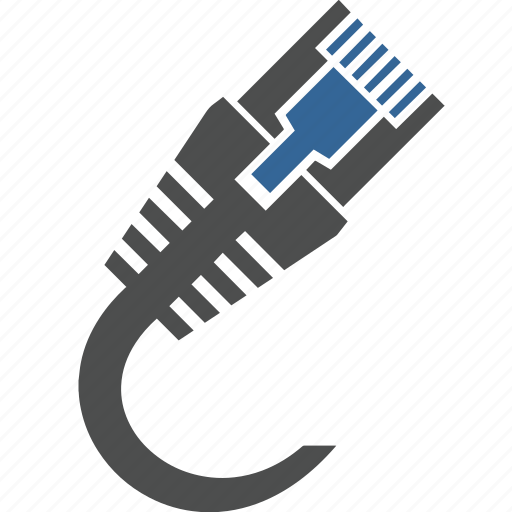 cable, connections, internet, lan, network, security, sever icon