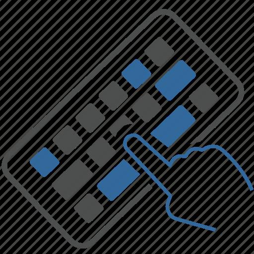 communication, computer, finger, hardware, keyboard, one, technology icon