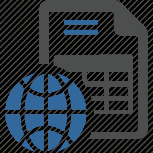 base, data, document, information, internet, list, network icon