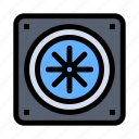 computer, cooling, fan icon