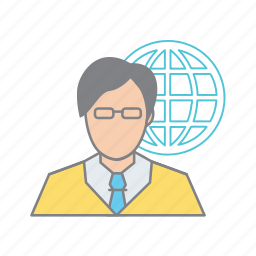 admin, administrator, business and marketing, global support, web developer, website designer icon