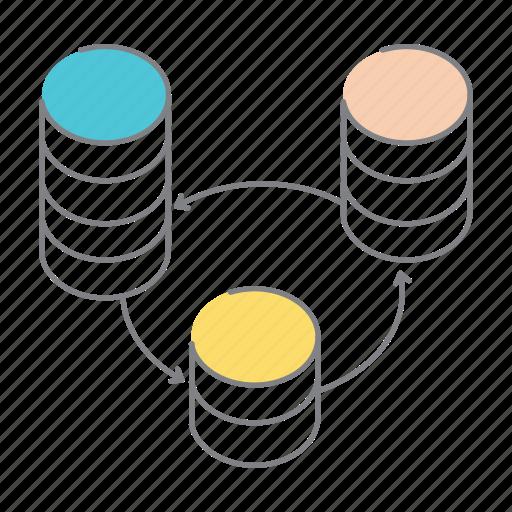 big data, data, data load, data transfer, drives, information technology, server icon