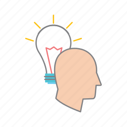 idea, inspiration, planning, r&d, research, strategy, technology icon