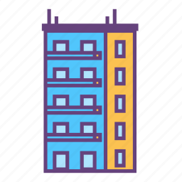 architecture, building, city, infrastructure icon