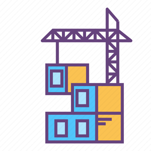 architecture, building, city, crane, infrastructure icon