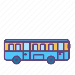 bus, car, city, infrastructure icon
