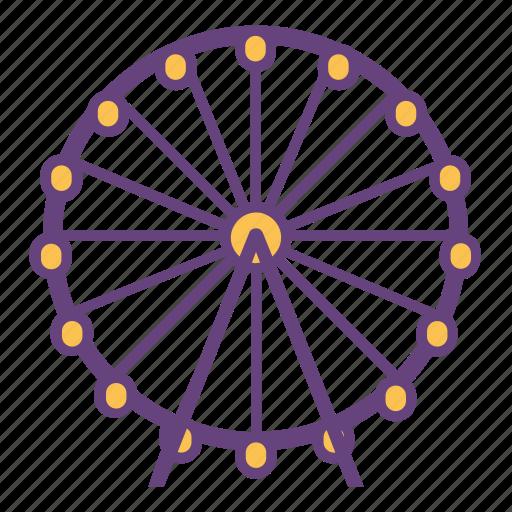 city, ferris, infrastructure, park, wheel icon