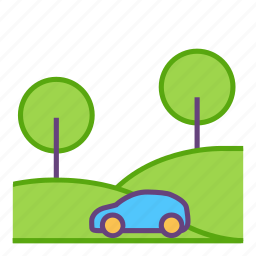 car, city, infrastructure icon