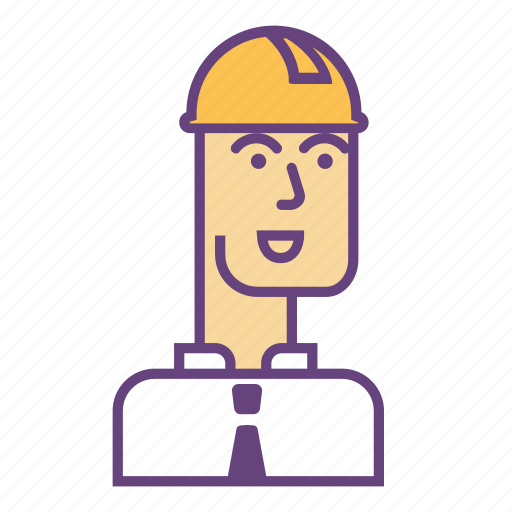 architecture, builder, face, helmet, infrastructure icon