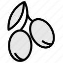 olive, food, ingredient, pizza icon