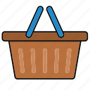 basket, bucket, cart, shop, shopping icon