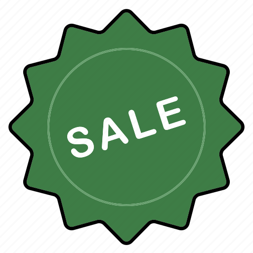 badge, green, sale icon