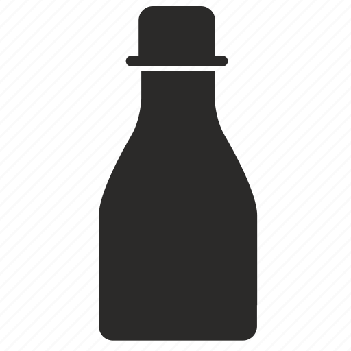 bottle, ink, pen, printer icon