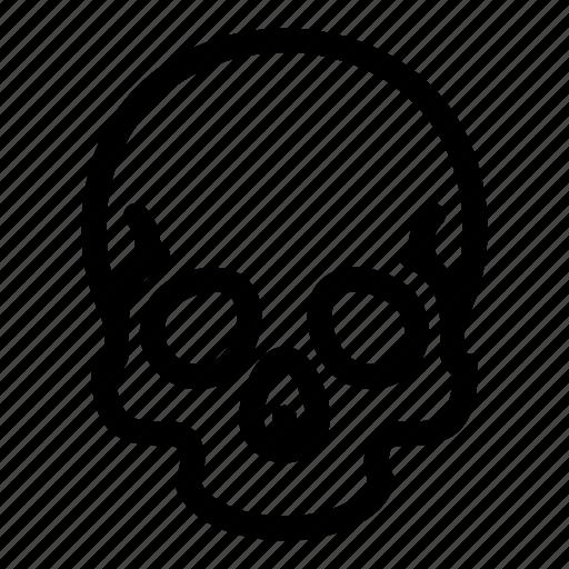 bone, death, skeleton, skull icon