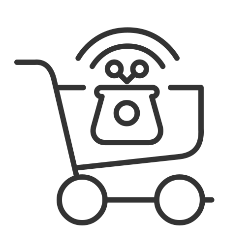 cashierless, go store, no-checkout, store, walk out icon