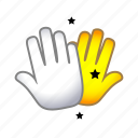 clap, gesture, hand, hi5, signs, slap icon