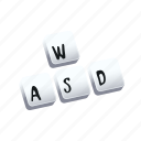 keyboard, tutorial, wasd icon