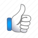 signs, thumbs, up icon