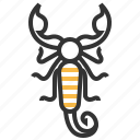 animal, bug, insect, scorpion icon