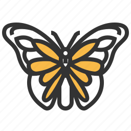 animal, bug, insect, monarch icon