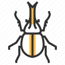 animal, beetle, bug, insect, rhino icon