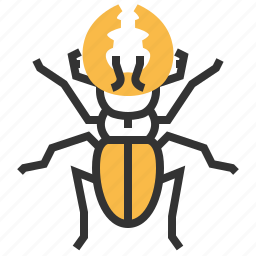 animal, beetle, bug, insect, stag icon