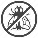 ban, control, exterminator, fly, insect, pest, pest control icon
