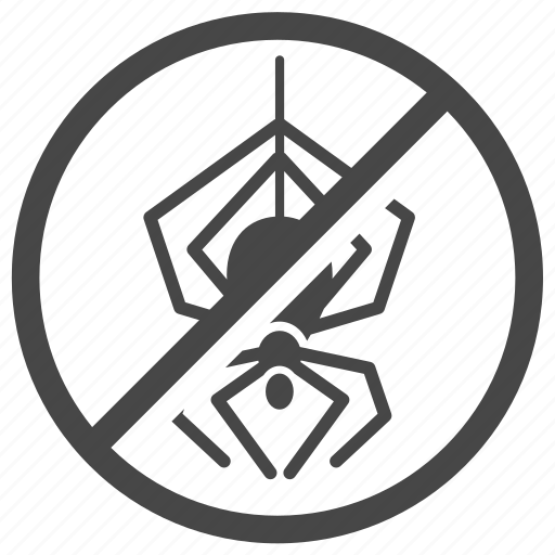 ban, control, exterminator, insect, pest, pest control, spider icon