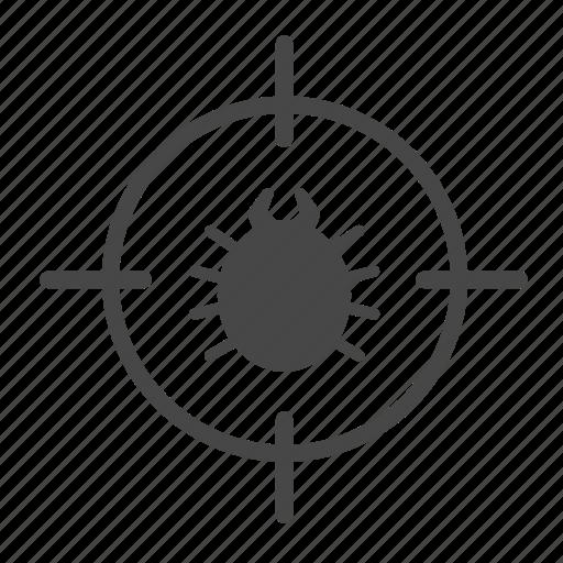 bug, exterminator, flea, insect, pest, pest control, search icon