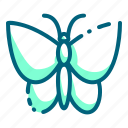 bug, butterfly, caterpillar, flower, insect icon