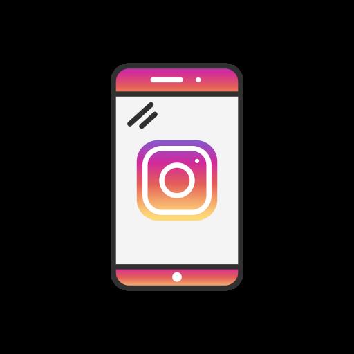 instagram, instagram logo, logo, phone icon