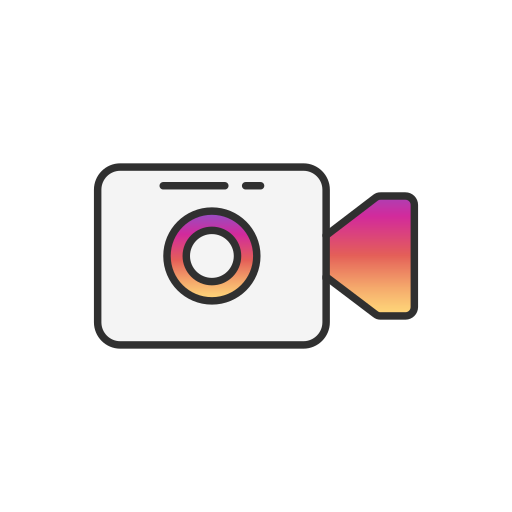 instagram, post, record, video icon