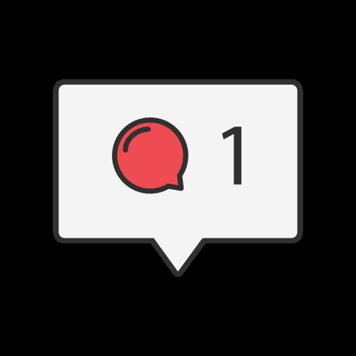 comment, insatgram, message, notification icon