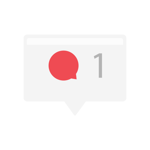 comment, message, notification, one message icon