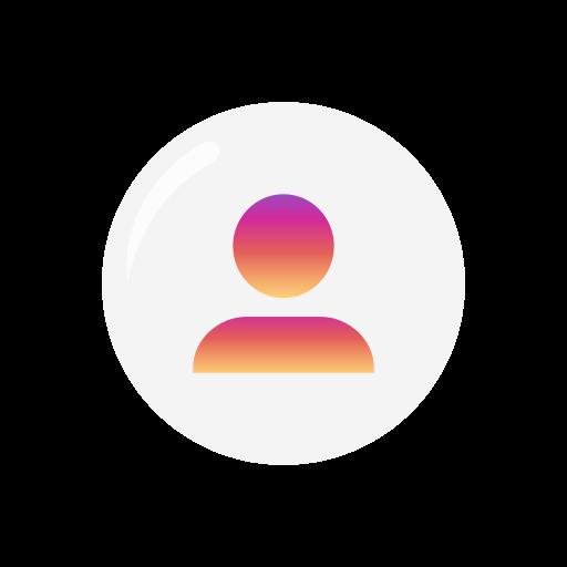 follow, home page, profile, user icon