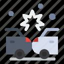accident, crash, damage, insurance icon